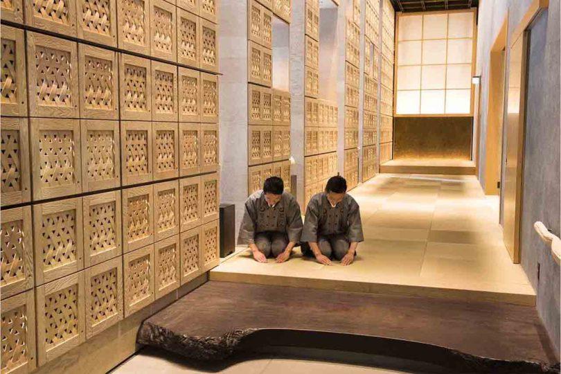 Two of the staff of HOSHINOYA Tokyo.