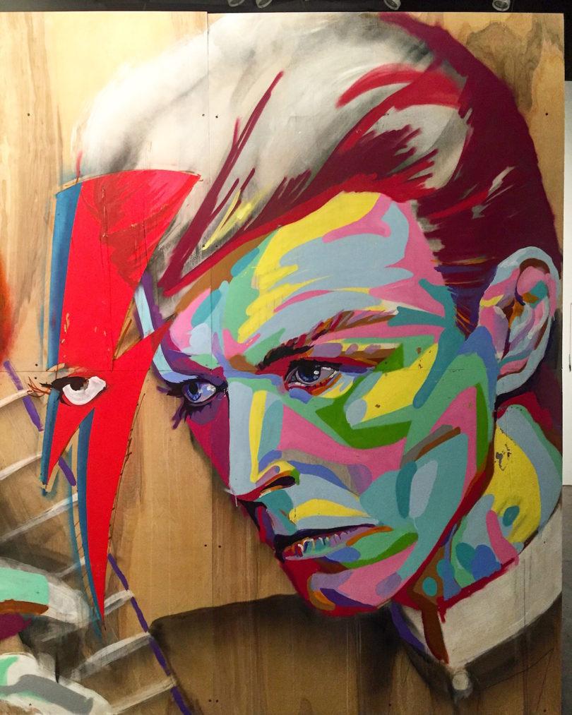 The W Hotel – SXSW (Austin, TX), Wes Kinship, portrait of David Bowie