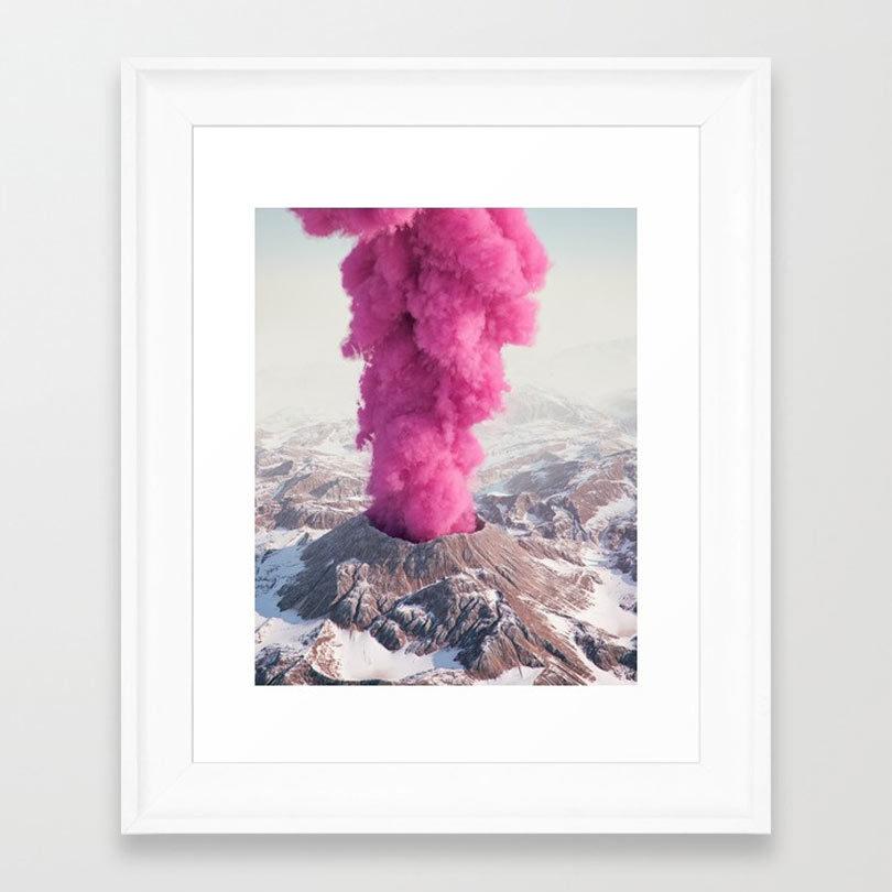 pink-eruption-framed-print