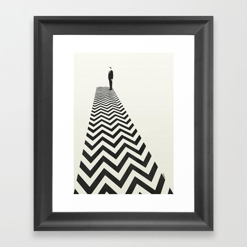 twin-peaks-minimalist-poster-framed-print