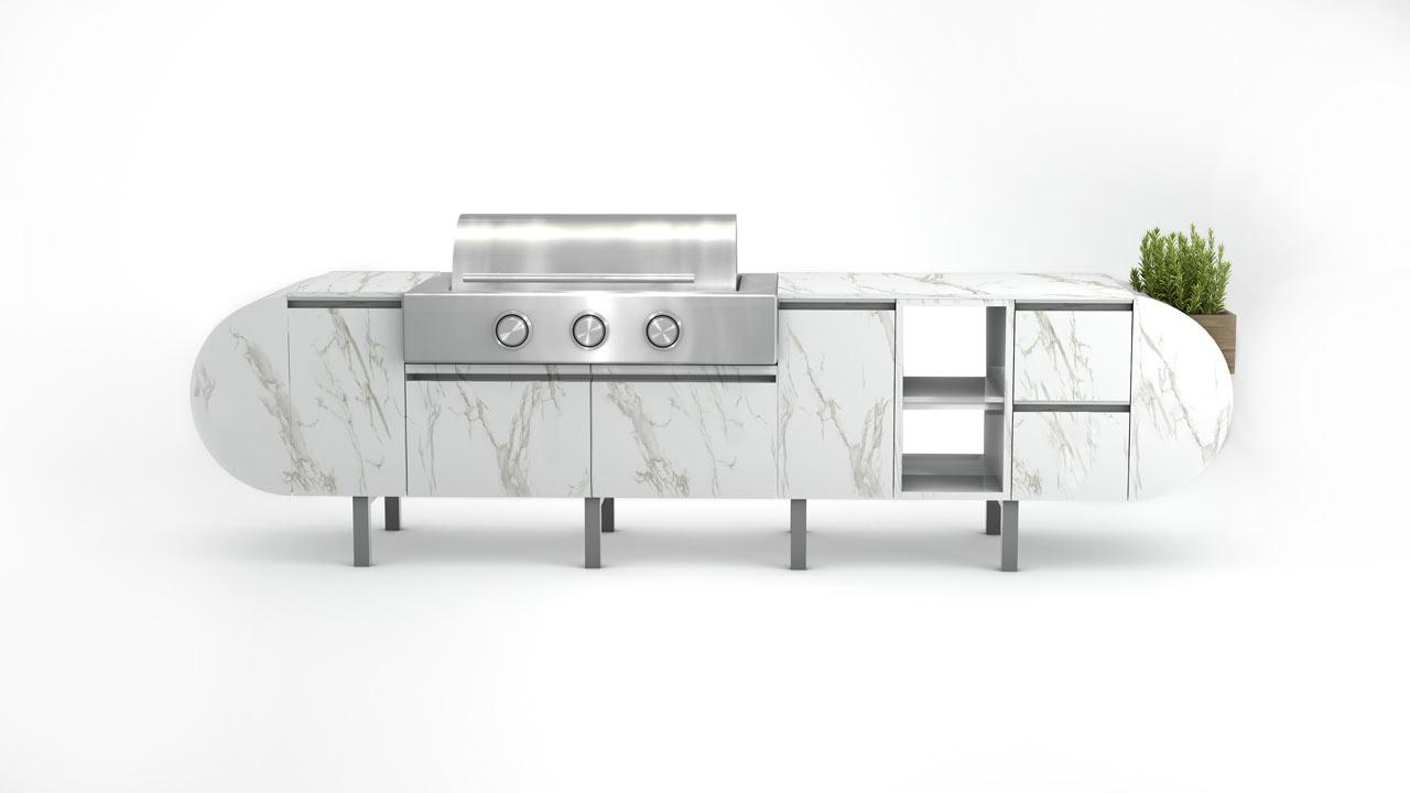 ASA-D2: A Modular, Freestanding Outdoor Kitchen - Design Milk
