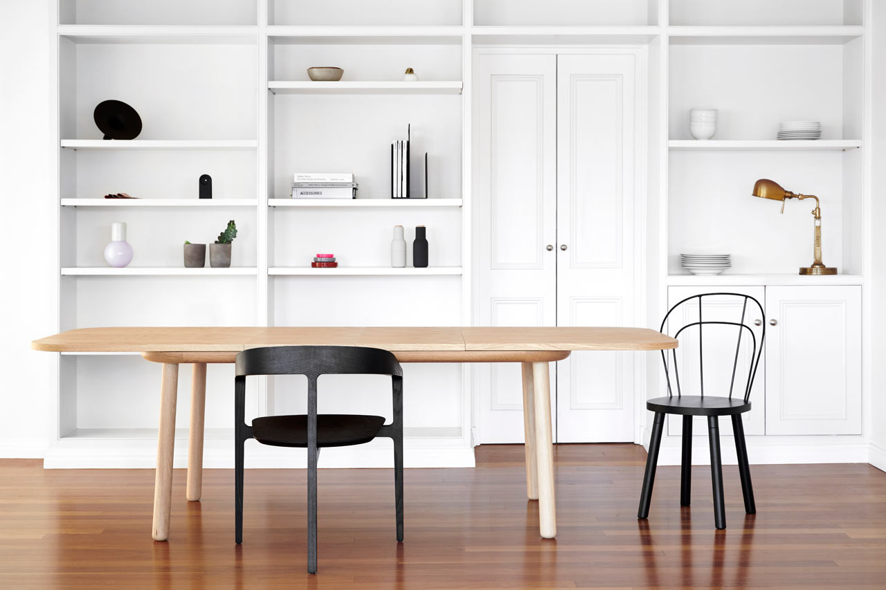 Baker: Wooden Tables with Gentle Curves