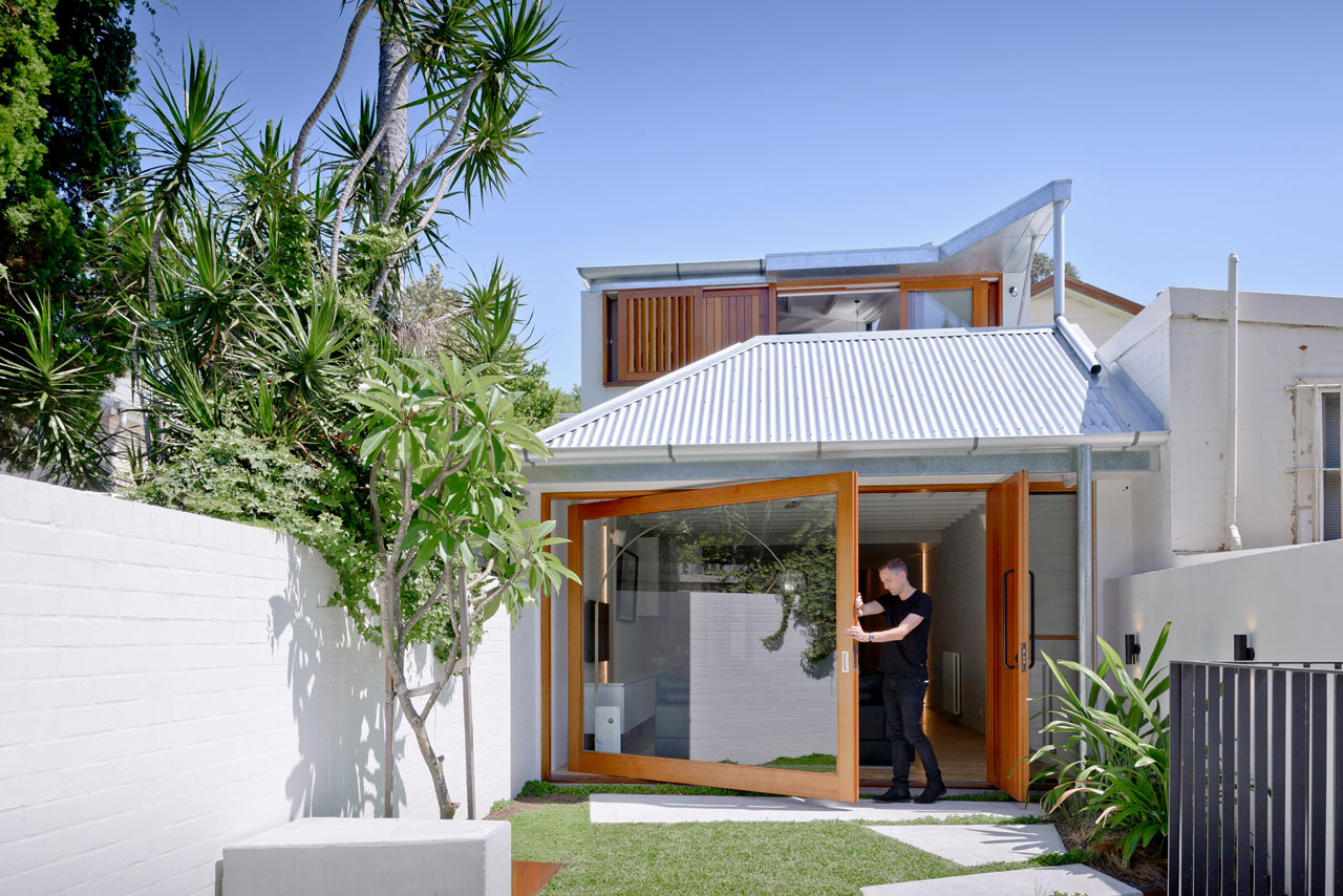A House That Goes Modern Behind Its Traditional Facade Design Milk