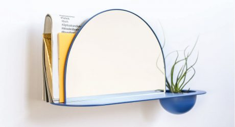 Two Halves Shelf by Chifen Cheng