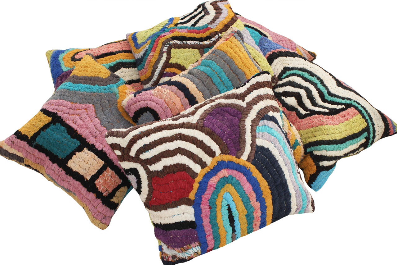 Vintage Textile Floor Pillows from Kelly Behun Studio