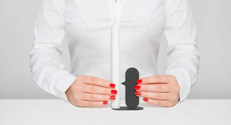 A Minimal Candle Holder Inspired by the Nose