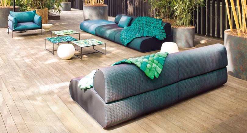 Modular Outdoor Seating Full of Color and Texture - Design Milk