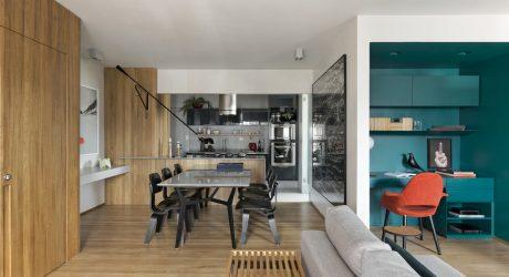 A São Paulo Apartment Inspired by Petroleum Blue
