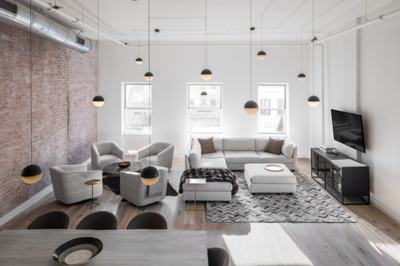... To Accommodate A Newborn Baby And The Clientu0027s Desire To Outfit The  Space With Industrial Inspired Furniture That Was Also Flexible For  Entertaining.