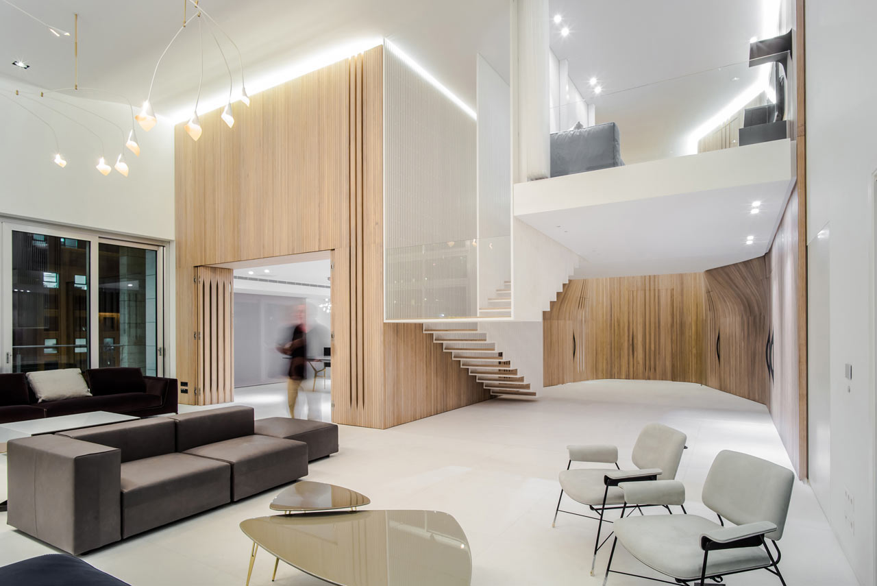 Map Paris Airports%0A A Beirut Penthouse with a Floating Staircase  u     Wooden Skin