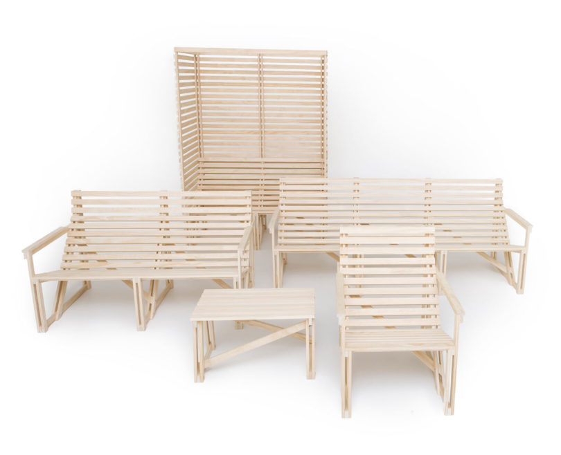 Cool The Patioset pieces e flat packed and are easy to assemble at home