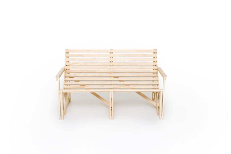 while we love the untreated naked wood for its minimalist vibe patioset is also available in indigo green and yellow - Naked Furniture
