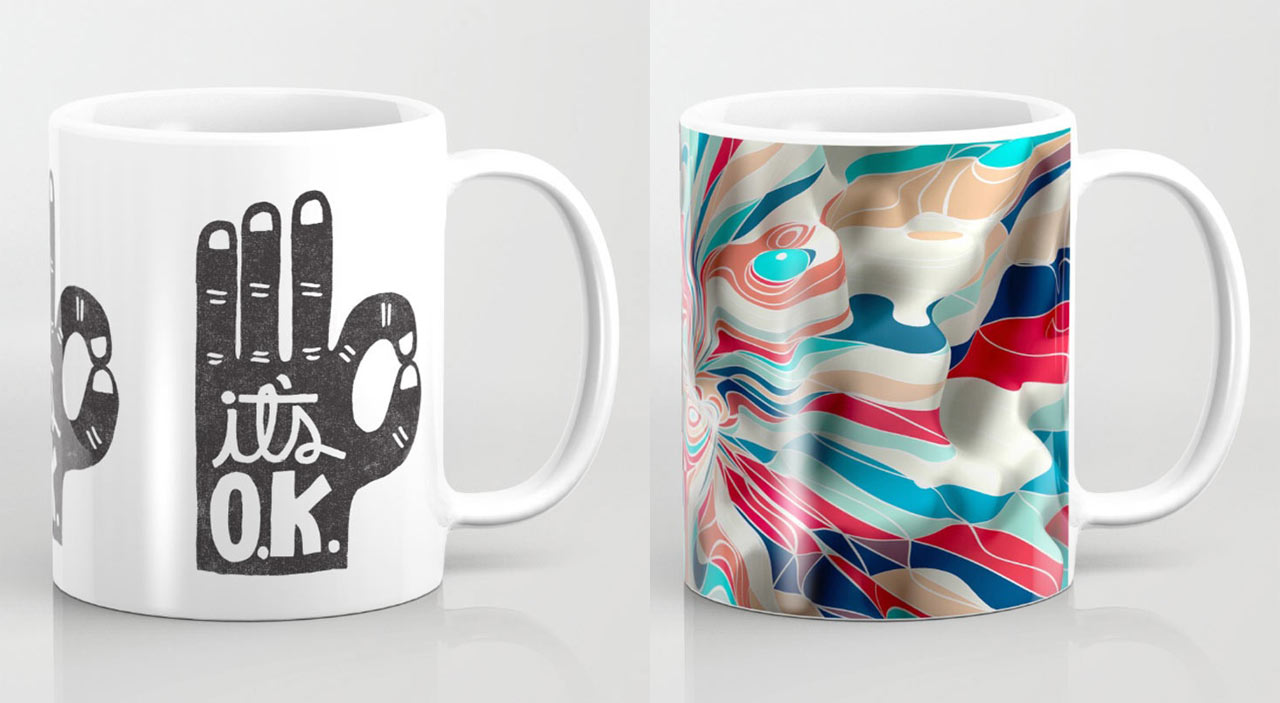 Coffee mugs from society6