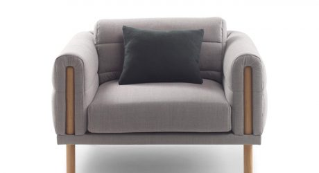 Seating with Upholstery That Wraps Itself Around the Frame Like a Blanket