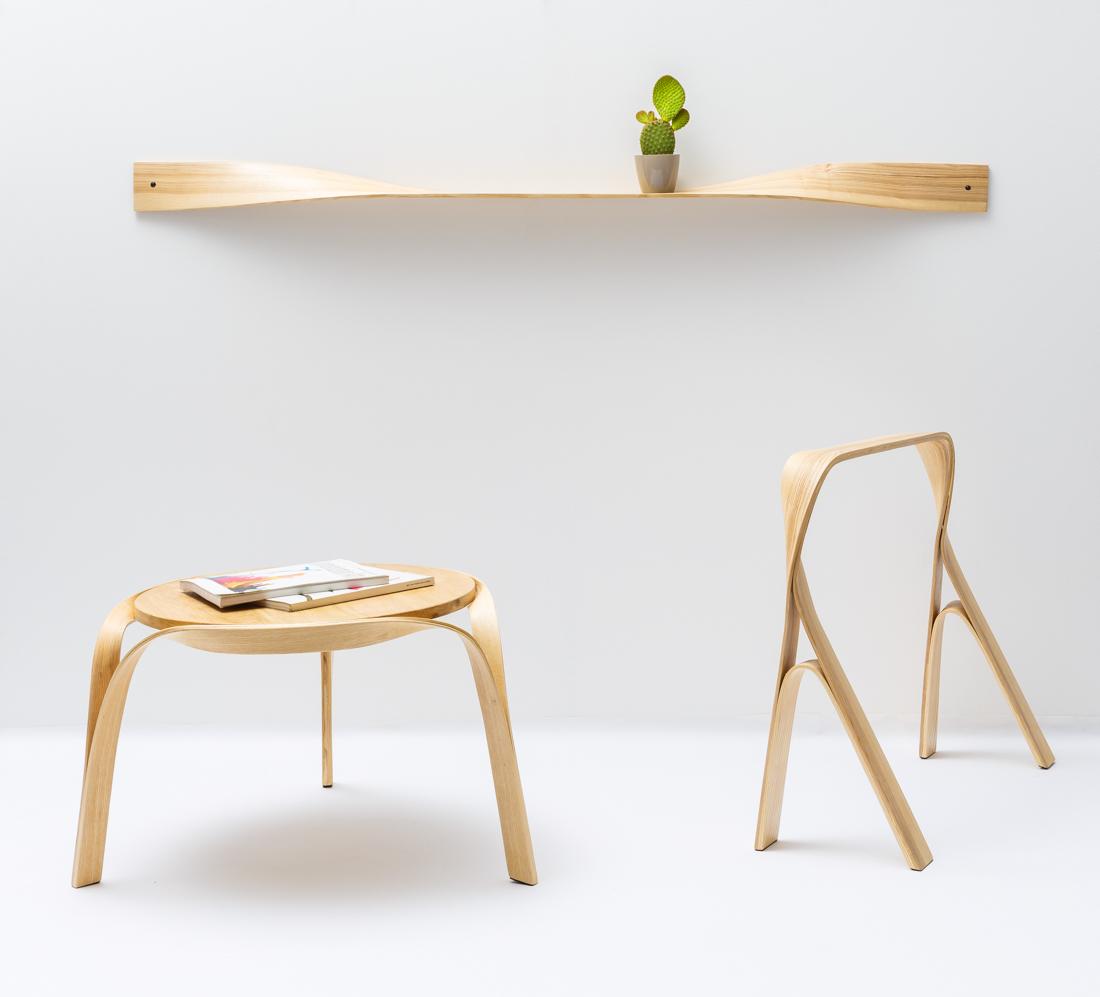 Bar Gantz Creates Furniture Through Steam Bending