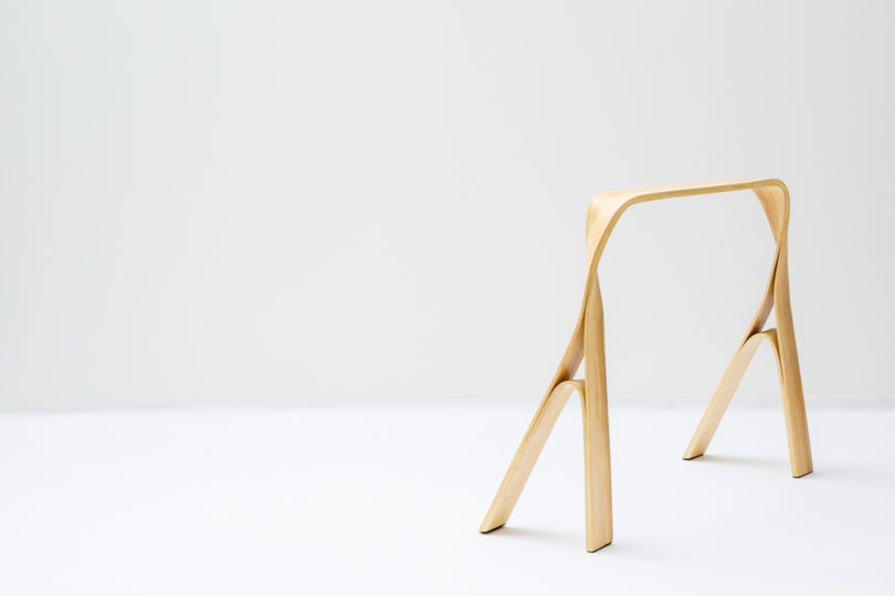 Bar gantz creates furniture through steam bending design