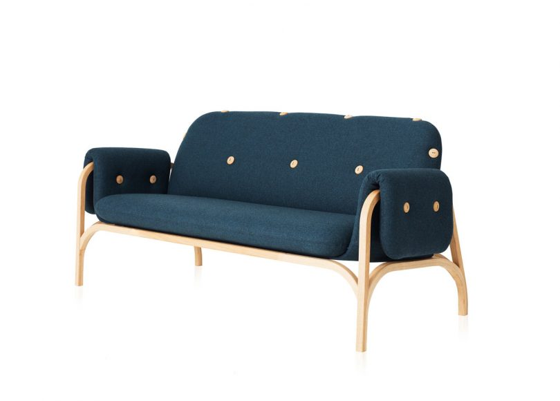 Front's Button Sofa Honors Swedese's Scandinavian Heritage