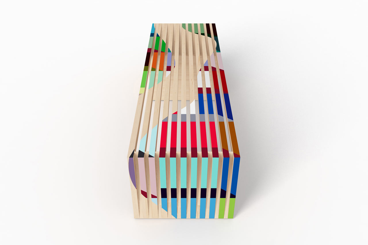 A Modern Bench Inspired by an Abstract Painting