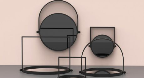 LAMPI Reversible Mirror and Tray by Elina Ulvio