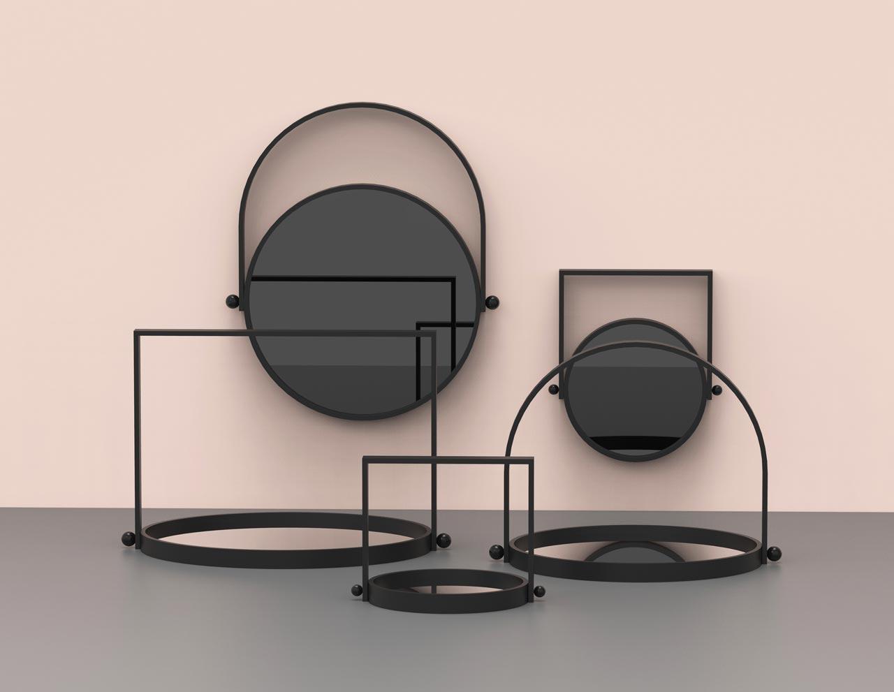 LAMPI Reversible Mirror and Tray by Elina Ulvio