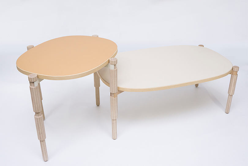 Tables That Combine LEGO Inspiration and an Old Turnery Technique