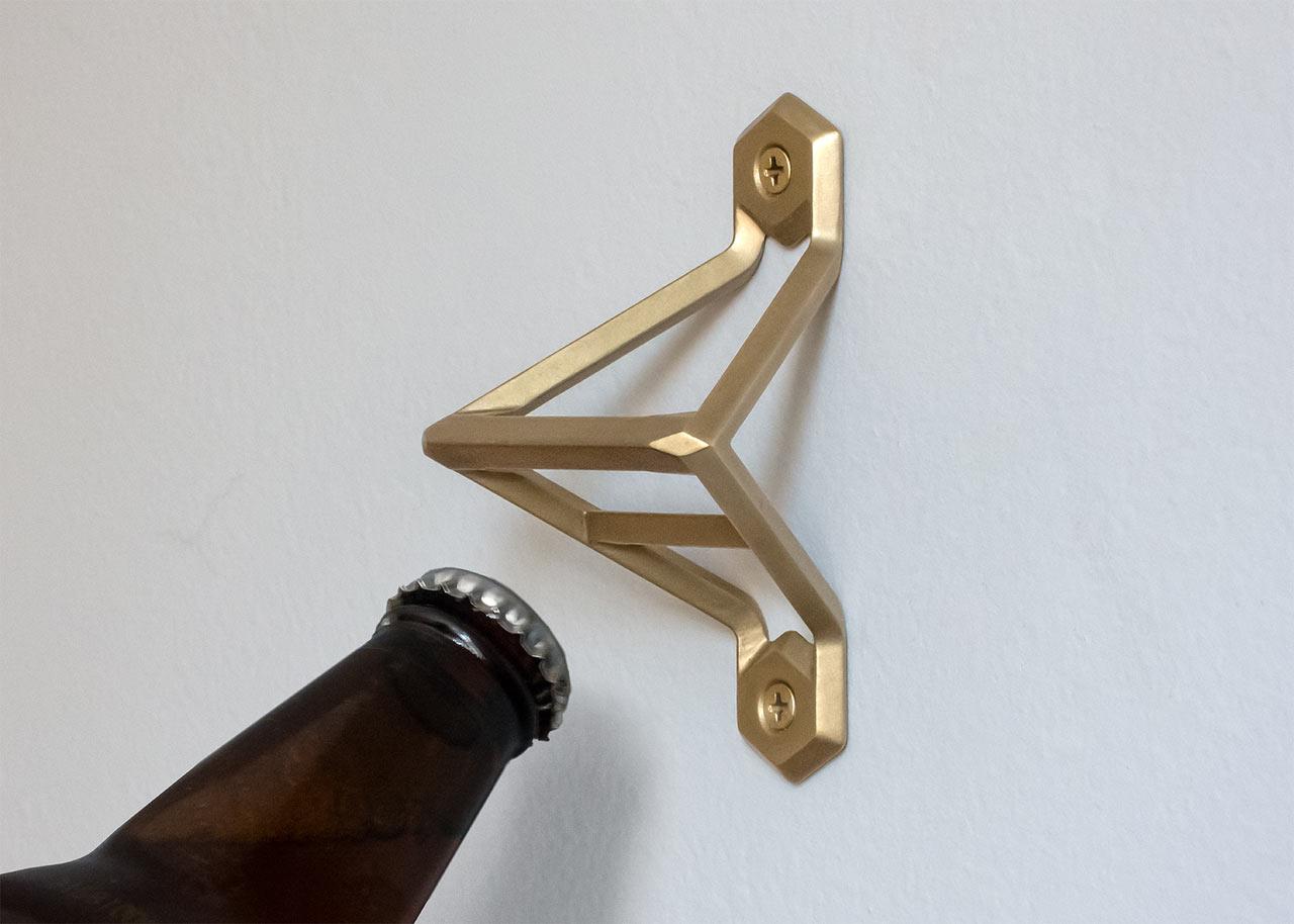 brass bottle openers by wander workshop design milk. Black Bedroom Furniture Sets. Home Design Ideas