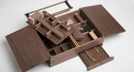 Handcrafted Toolbox That Holds Six Essential Tools