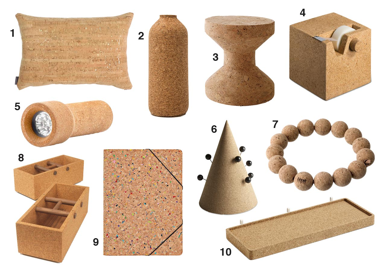 10 Modern Products Made From Cork Design Milk