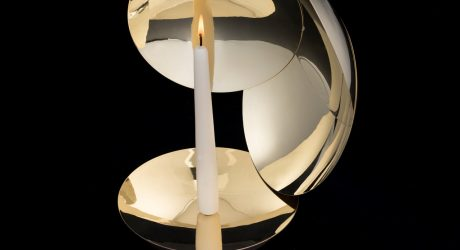 A Brass Candelabra That Amplifies the Candle Light