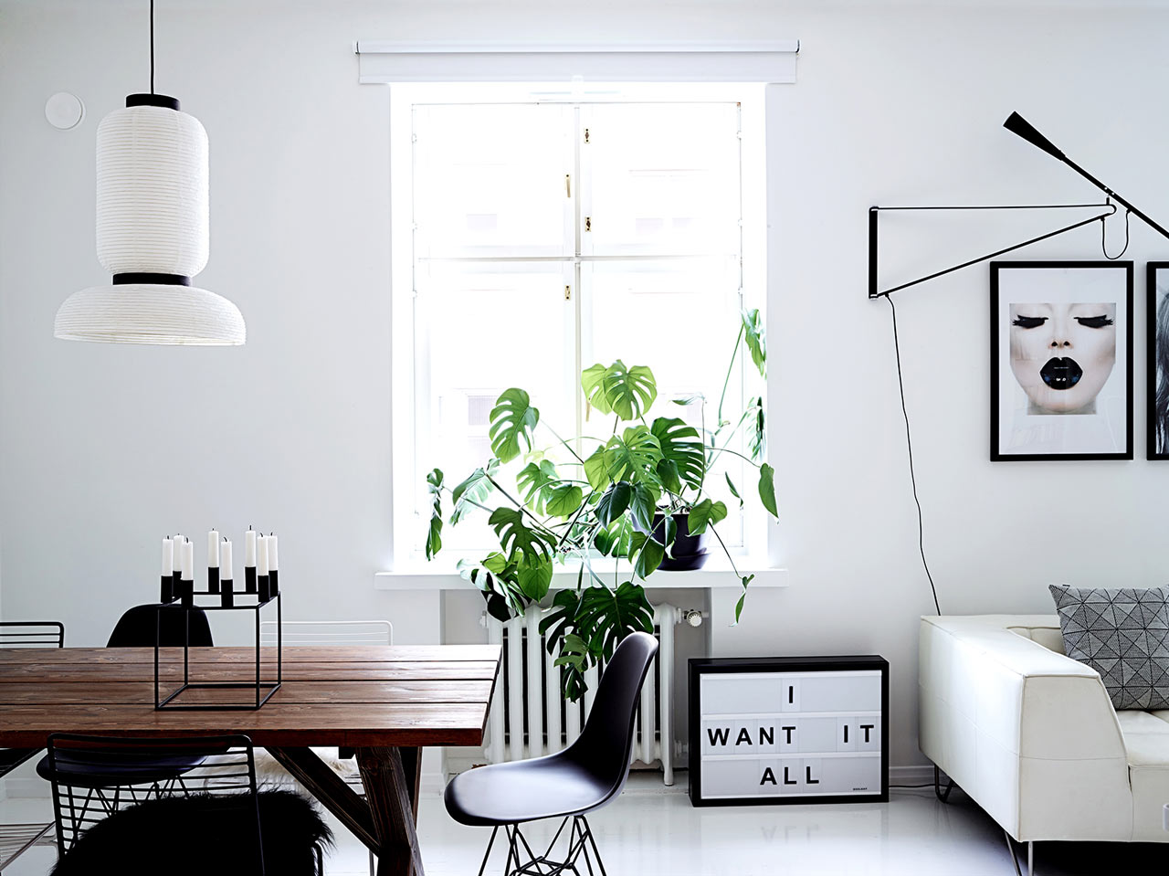 A Clean, Monochromatic Apartment in Helsinki