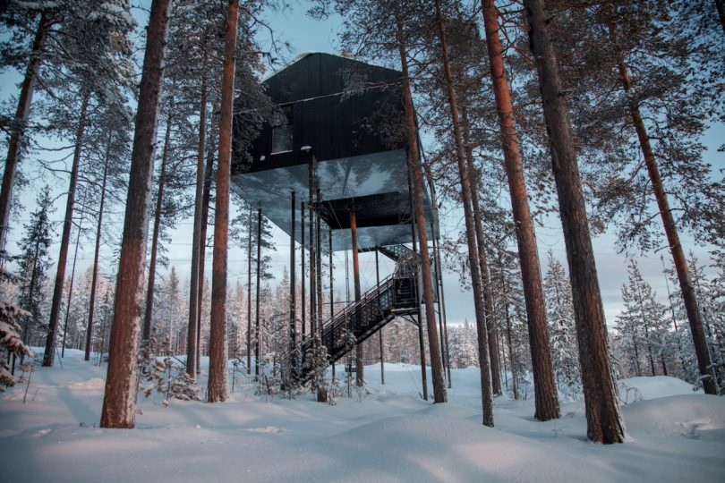 Stargaze and Sleep in Snøhetta's 7th Room at the Treehotel