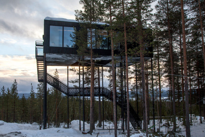 Stargaze and Sleep in Snøhetta's 7th Room at the Treehotel - Design Milk