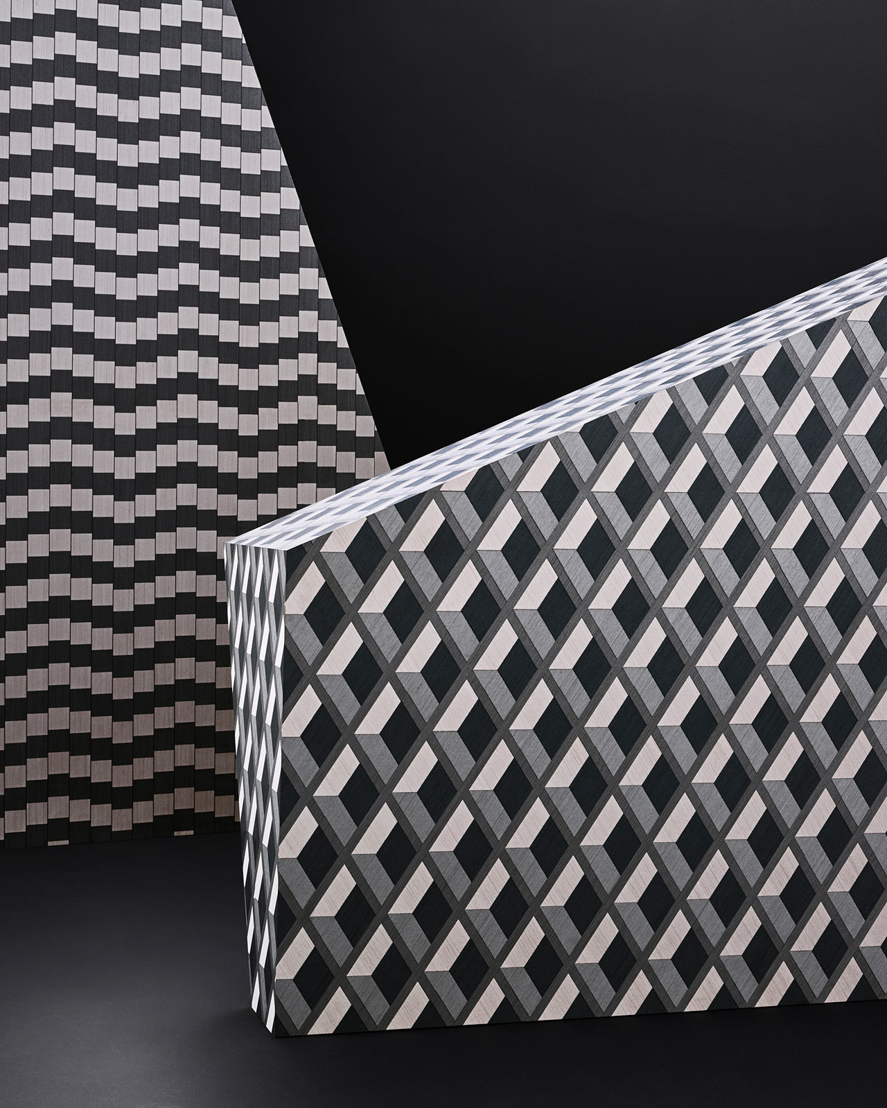 Geometric Wood Veneers by Front for ALPI