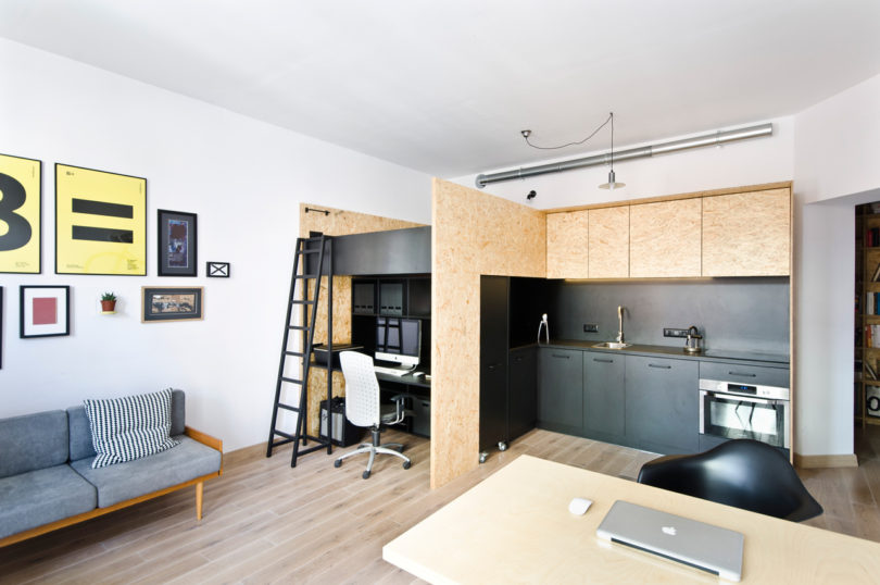 A Modest, Modern Apartment for Living and Working