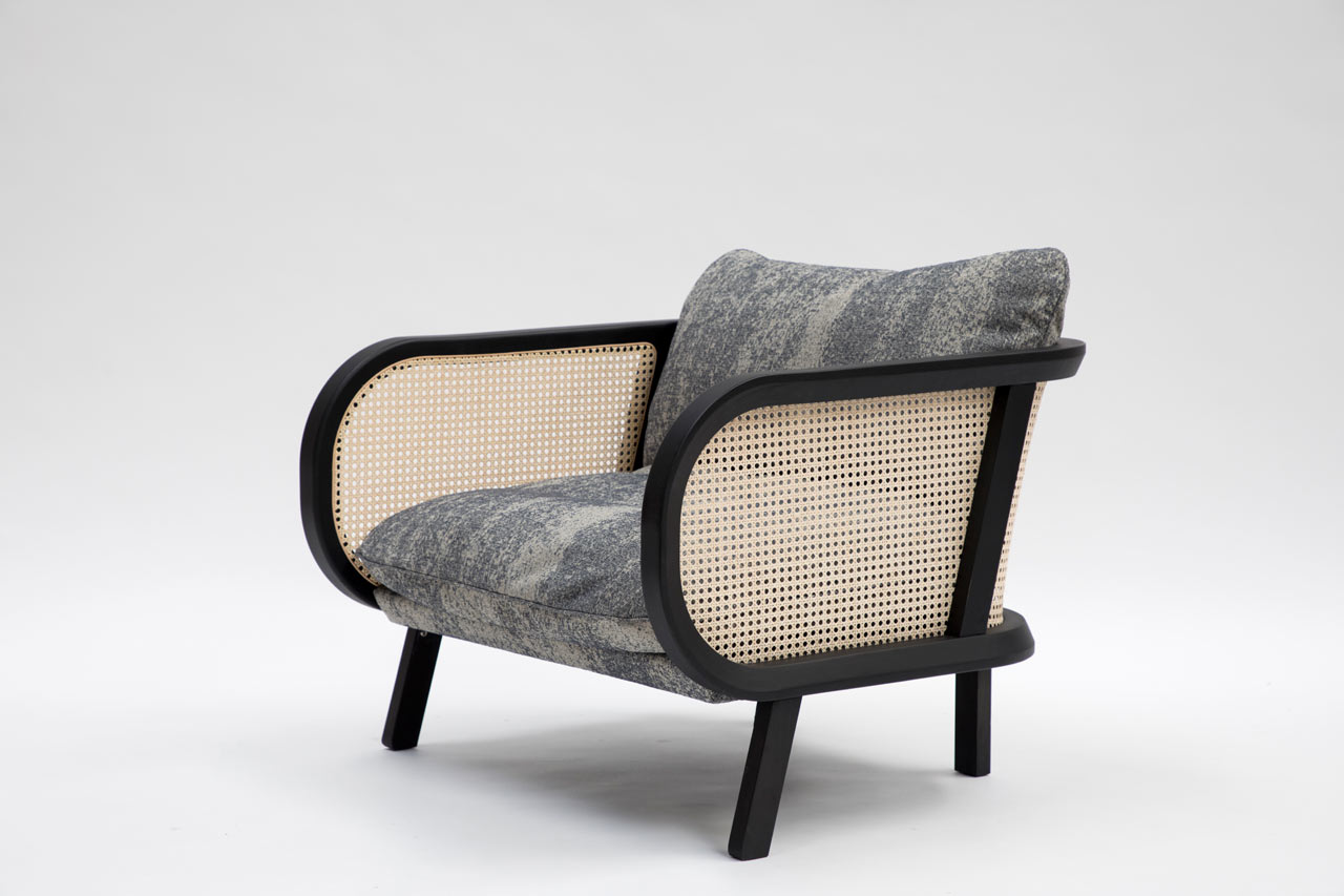 a woven cane chair from buzzispace