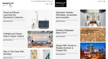 The Design Milk Newsletter Gets a Facelift