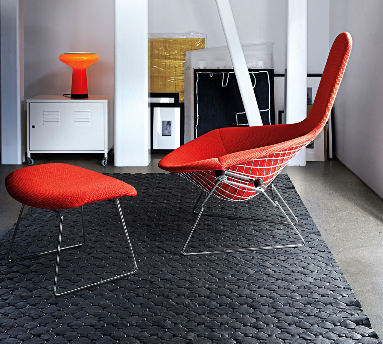 Interlocking Leather Rugs by Elvis & Kresse for FLOR