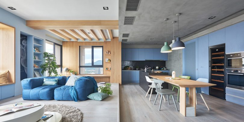 A Playful Apartment In Taiwan For A Modern Family Lifestyle A Young Couple  Hired HAO Design To Design A Modern Apartment That Was A Colorful Place For  Their ... Idea
