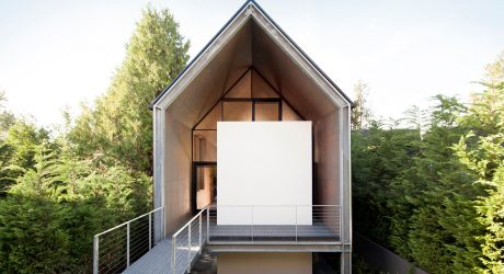 A Minimalist House Designed for a Couple Desiring a Downsize