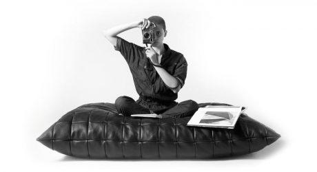 Oversized Leather Floor Pillows from KILLSPENCER