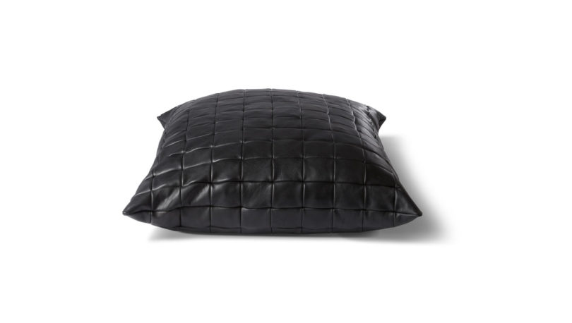 Oversized Leather Floor Pillows from KILLSPENCER - Design Milk