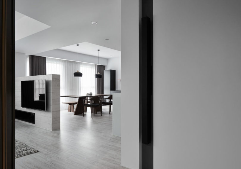 L Residence: A Monochromatic Modern Apartment in Taichung