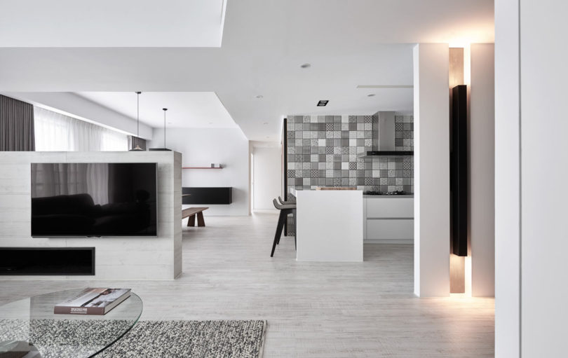 L Residence A Monochromatic Modern Apartment In Taichung