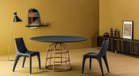 A Table with Bases Similar to Hooped Underskirts from the 1830s