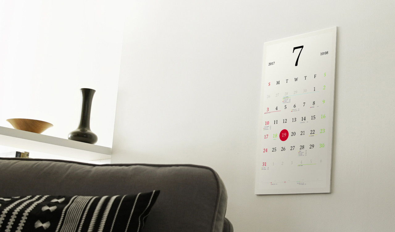 Magic Calendar by Kosho Tsuboi Connects Paper With Your Phone