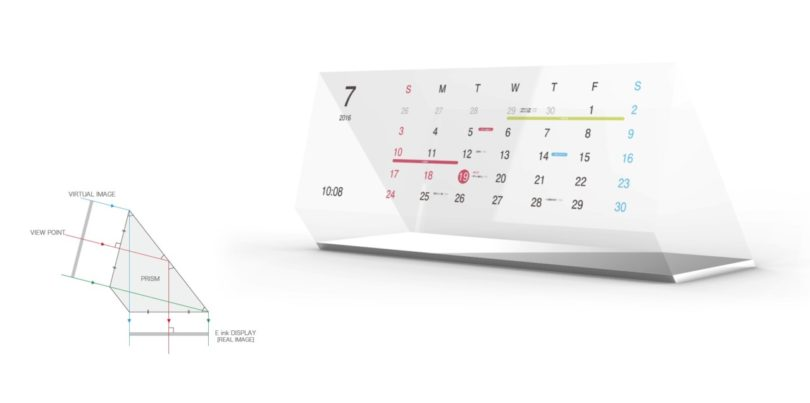 Calendar Design Concept : Magic calendar by kosho tsuboi connects paper with your
