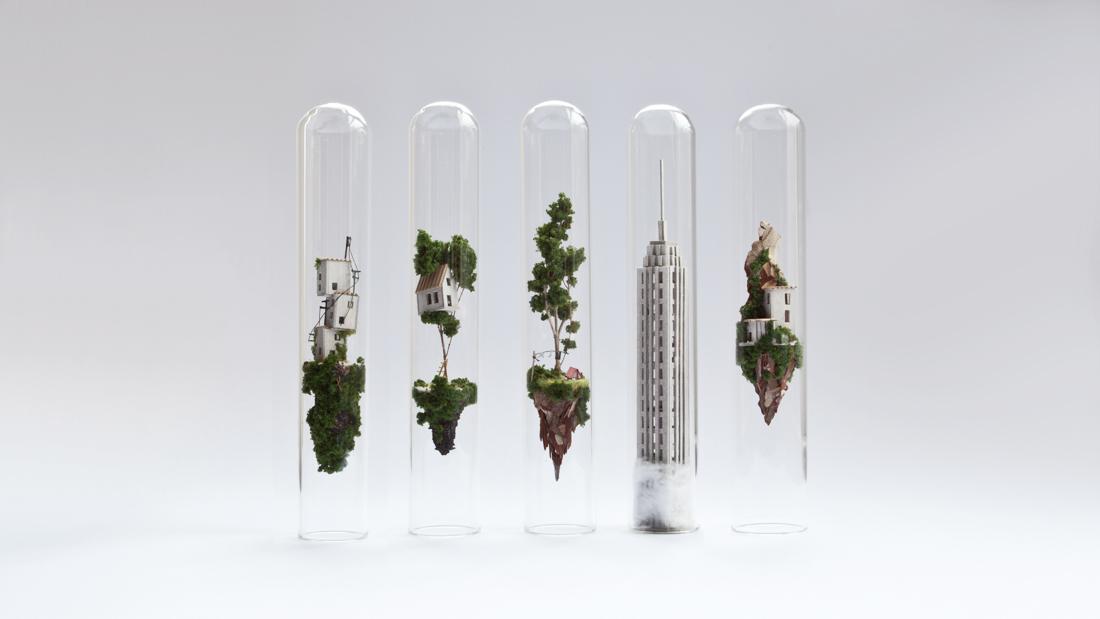 Miniature Test Tube Sculptures By Rosa de Jong