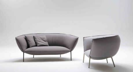 Kick Back And Let This Sofa And Lounge Chair Embrace You Design Milk