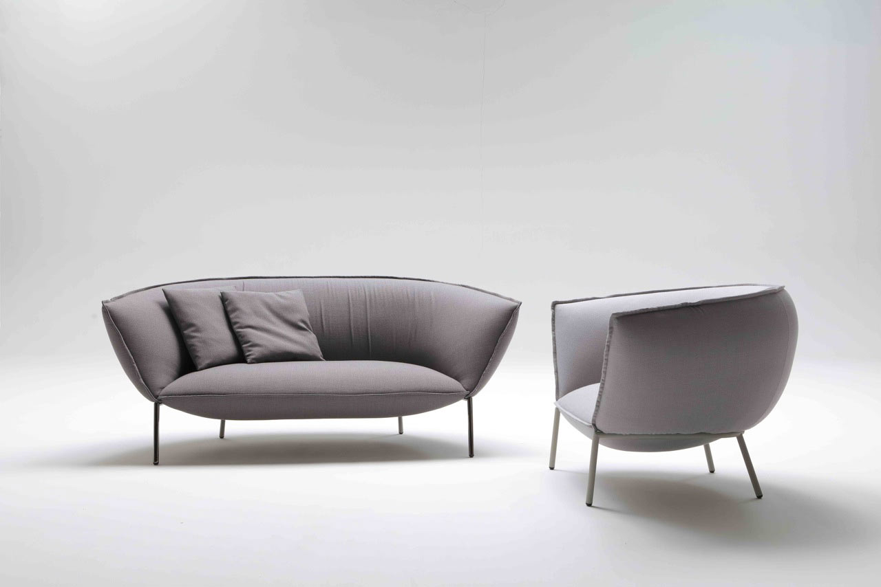 Schlafsofa design lounge  Kick Back and Let This Sofa and Lounge Chair Embrace You - Design Milk