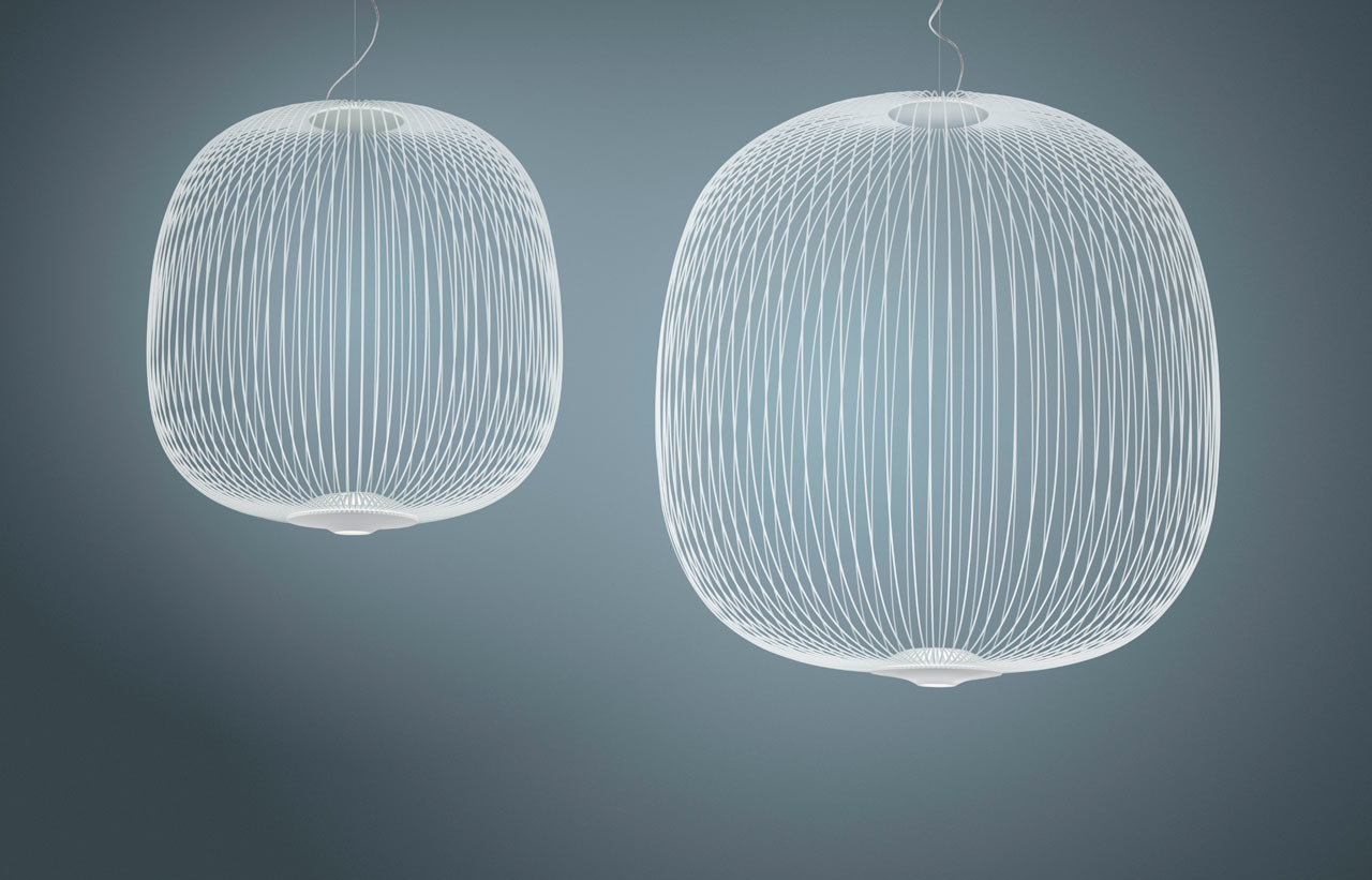 A Hanging Light Inspired by Bicycle Spokes
